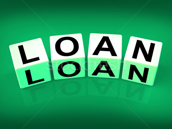 Loan Blocks Mean Funding Lending or Loaning Stock photo © stuartmiles