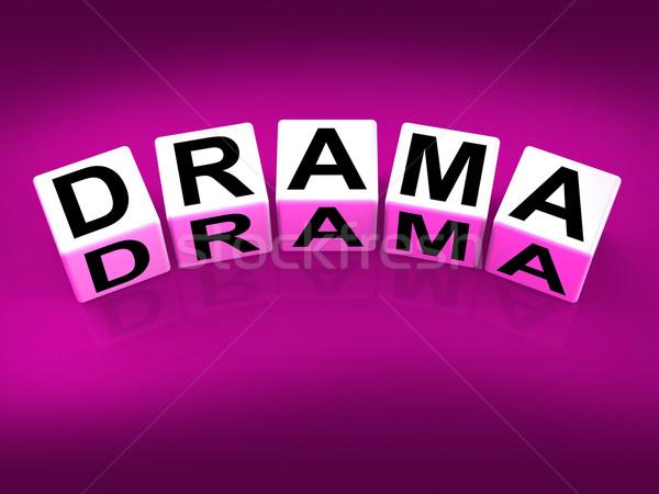Drama blokken dramatisch theater gevoelens Stockfoto © stuartmiles