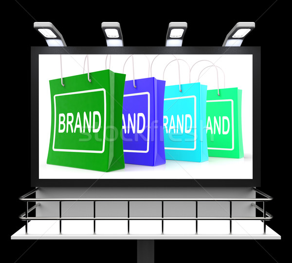 Brand Shopping Sign Shows Branding Trademark Or Label Stock photo © stuartmiles