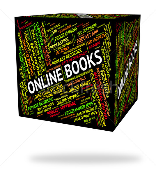 Online boeken world wide web websites betekenis website Stockfoto © stuartmiles