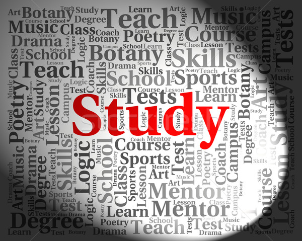 Study Word Means Develop Educate And Development Stock photo © stuartmiles