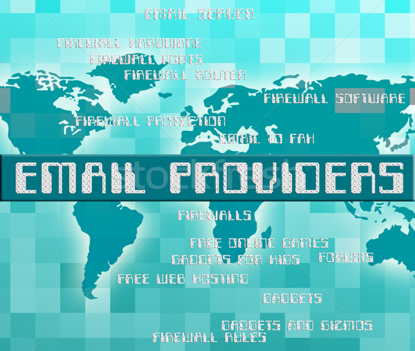Email Providers Shows Communicate Word And Text Stock photo © stuartmiles