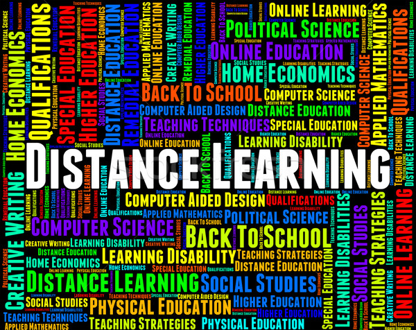 Distance Learning Words Represents Correspondence Course And Dev Stock photo © stuartmiles