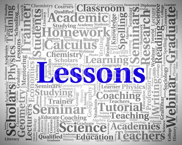Unterricht Wort Seminar Worte Bedeutung Stock foto © stuartmiles