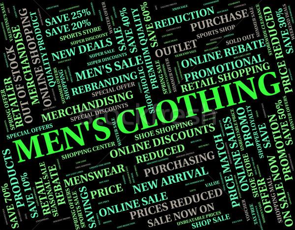 Kleding menselijke persoon betekenis vent kledingstuk Stockfoto © stuartmiles