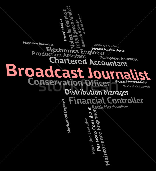 Diffuser journaliste lobby correspondant annoncer Photo stock © stuartmiles