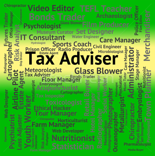 Tax Adviser Represents Employee Occupations And Irs Stock photo © stuartmiles