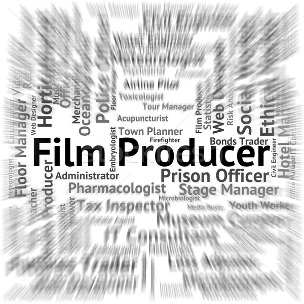 Film Producer Indicates Production Hiring And Position Stock photo © stuartmiles