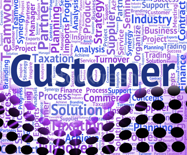 Customer Word Shows Shoppers Consumers And Consumer Stock photo © stuartmiles