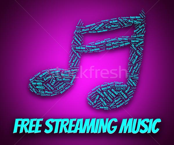 Gratis streaming muziek niets downloaden betekenis Stockfoto © stuartmiles