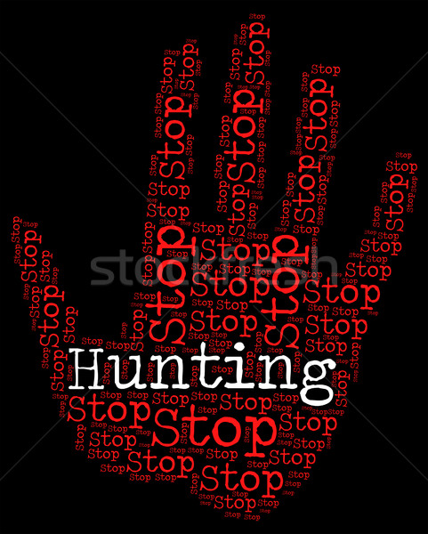 Arrêter chasse danger domaine Photo stock © stuartmiles