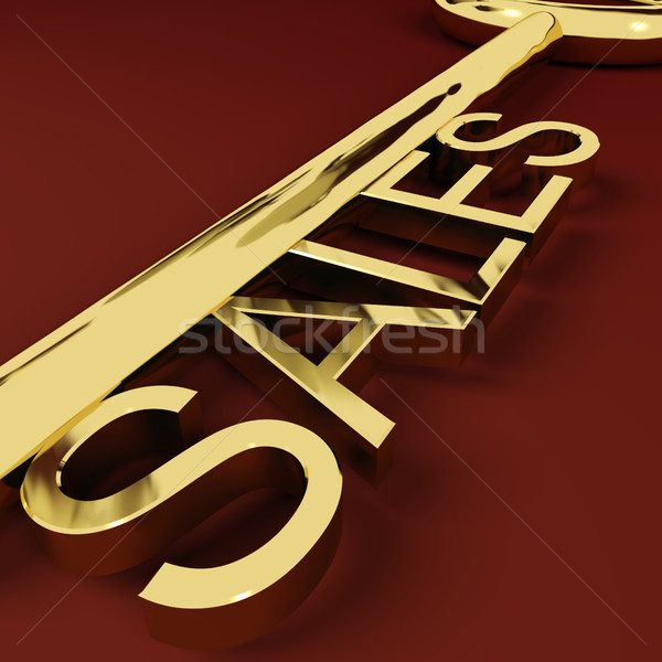 Stock photo: Sales Key Representing Business And Ecommerce