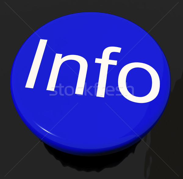 Info Button As Symbol For Information Or Answers Stock photo © stuartmiles
