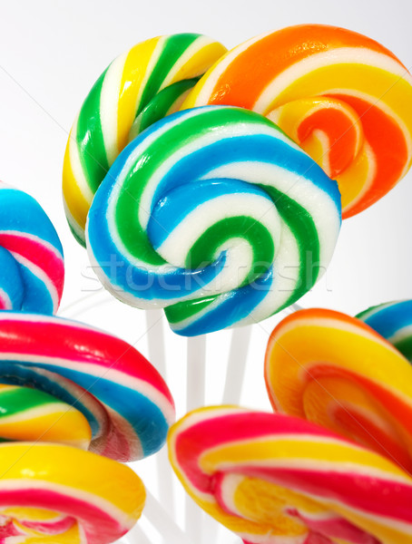 Twisted Multicolored Candy On Sticks Stock photo © stuartmiles