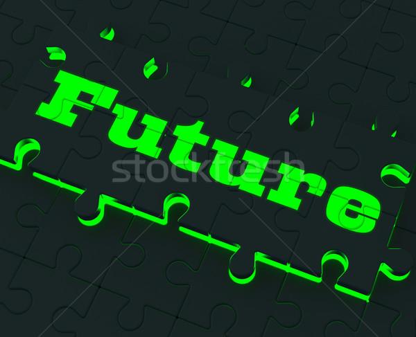 将来 パズル 運命 予測 ターゲット ストックフォト © stuartmiles