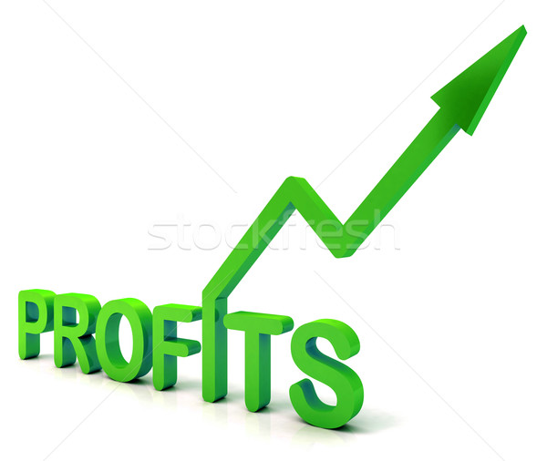 Green Profit Word Shows Income Earned  Stock photo © stuartmiles