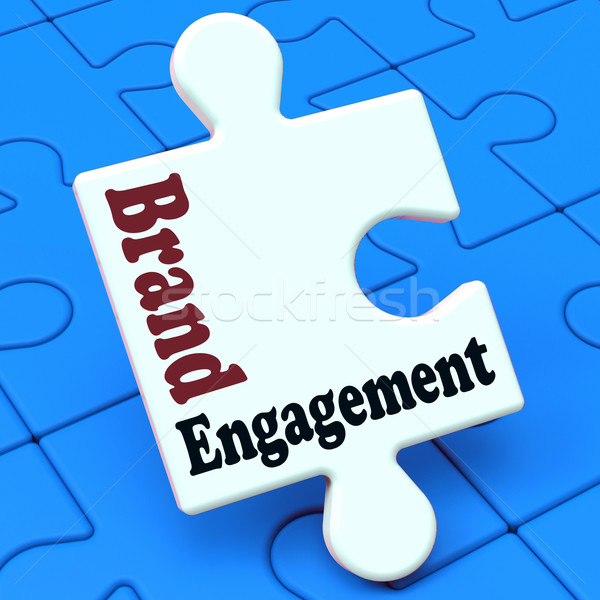 Brand Engagement Means Engage With Branded Product Stock photo © stuartmiles