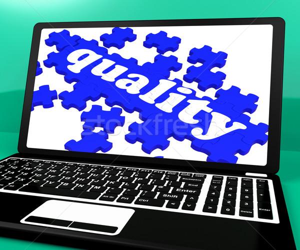 Minőség puzzle notebook weboldalak kiválóság online Stock fotó © stuartmiles