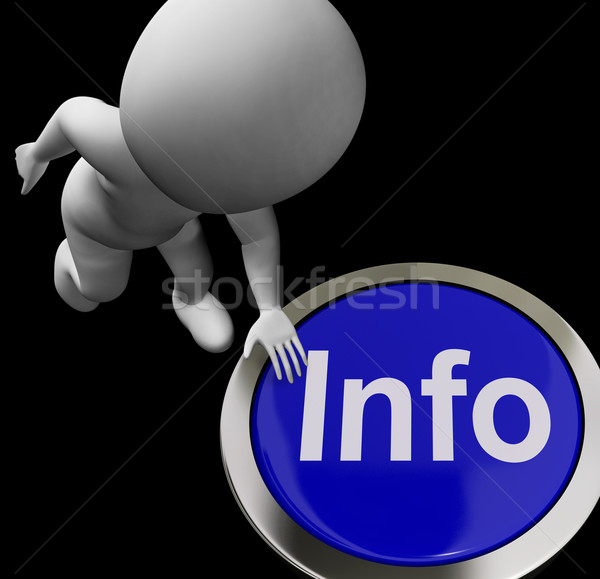 Info Button Shows Information Faq Or Support Stock photo © stuartmiles