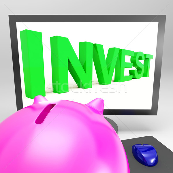 Invest Screen Shows Growing Stocks For Investor Stock photo © stuartmiles
