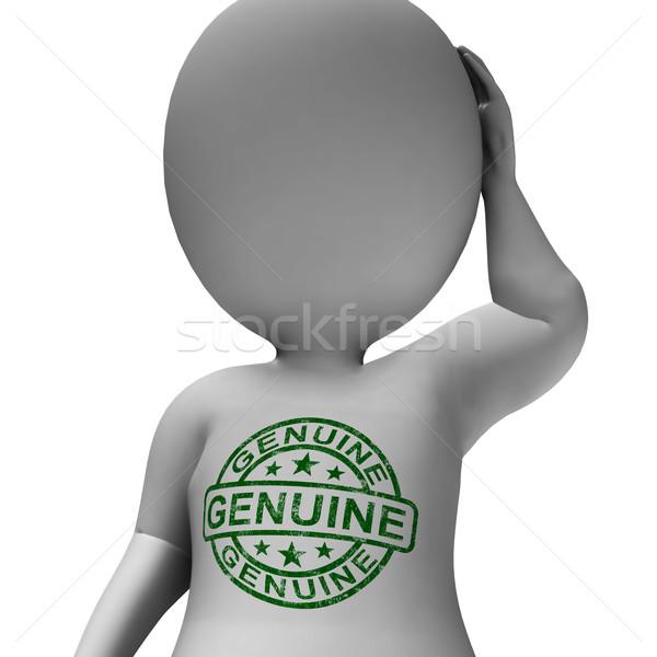 Genuíno carimbo homem real certificado produto Foto stock © stuartmiles