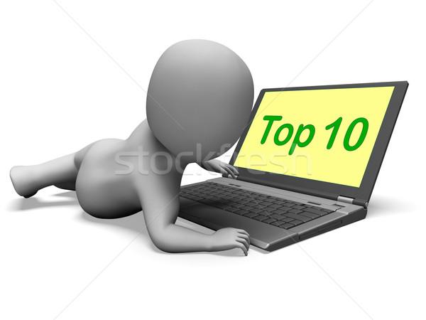 Felső tíz karakter laptop legjobb rangsor Stock fotó © stuartmiles