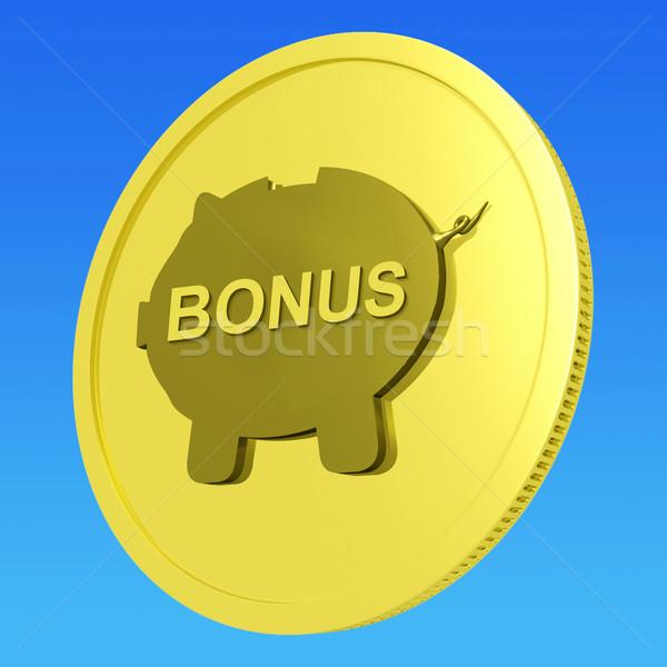 Bonus  Coin Means Monetary Reward Or Benefit Stock photo © stuartmiles