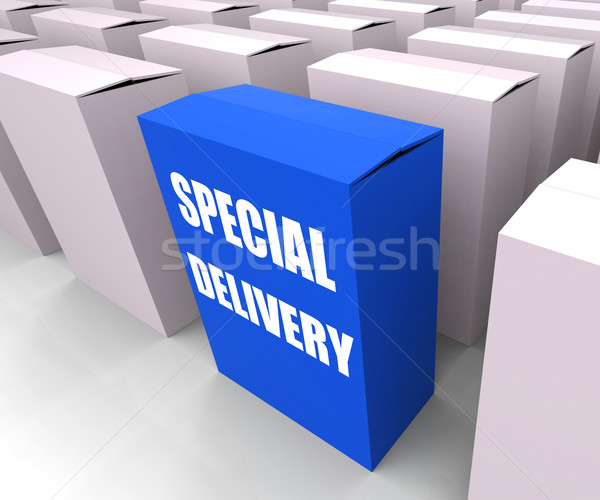 Special Delivery Box Shows Secure and Important Shipping Stock photo © stuartmiles