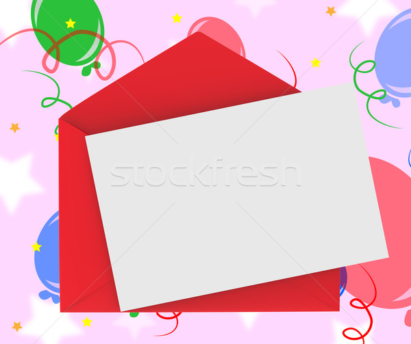 Red Envelope With Note Means Romantic Correspondence Or Love Let Stock photo © stuartmiles