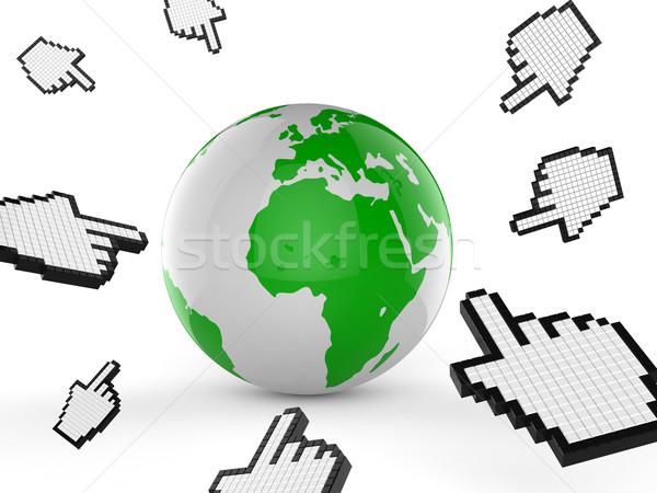 世界的な インターネット ウェブサイト 世界中 研究 ストックフォト © stuartmiles