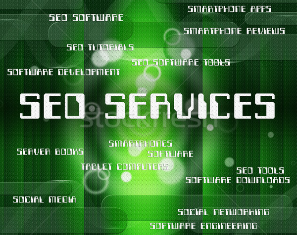 Seo Services Means Help Desk And Advice Stock photo © stuartmiles
