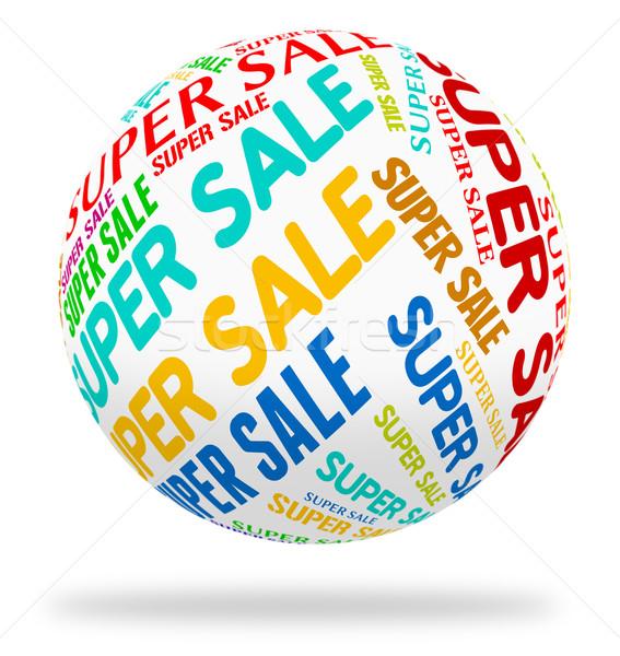 Süper satış kelime azalma perakende pazarlık Stok fotoğraf © stuartmiles