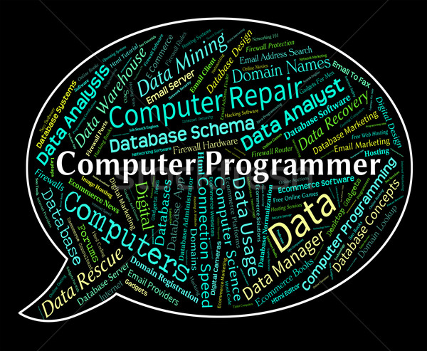 Computer Programmer Means Software Engineer And Communication Stock photo © stuartmiles