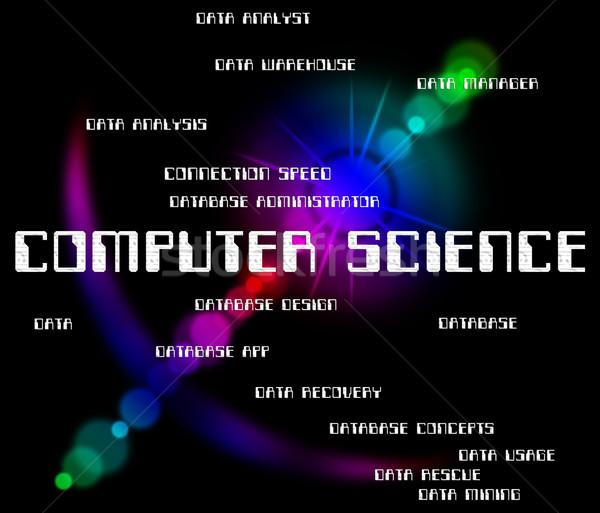 Számítástechnika informatika biológia jelentés WWW internet Stock fotó © stuartmiles