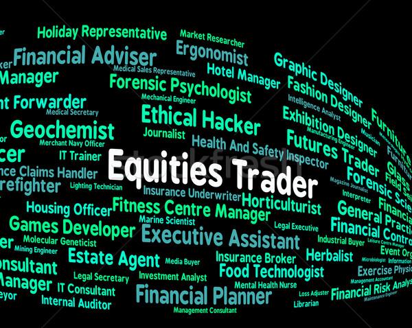 Kereskedő gazdaság állás elad tőzsde stock Stock fotó © stuartmiles