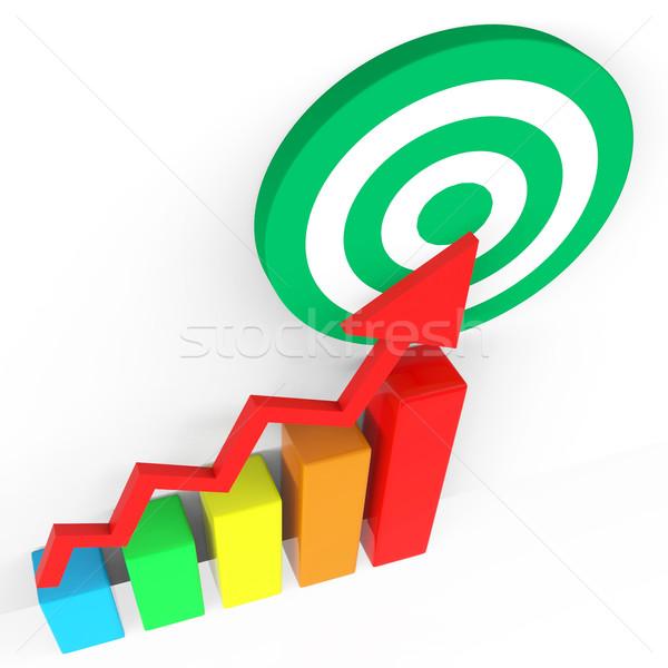Target Report Indicates Grow Forecast And Profit Stock photo © stuartmiles