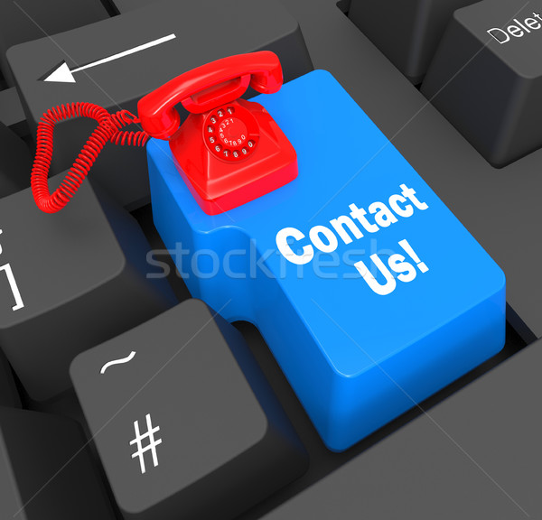 Contact Us Phone Shows Networking Call And Business Stock photo © stuartmiles