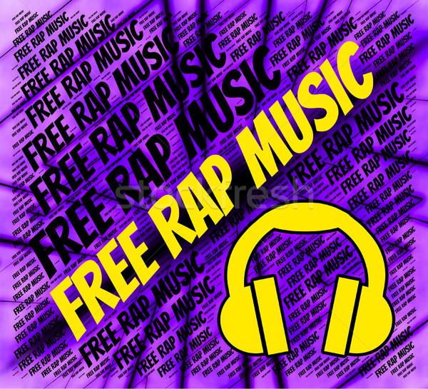 Gratis rap muziek geen kosten tonen Stockfoto © stuartmiles