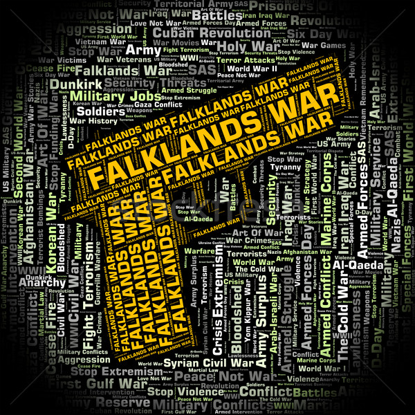 Falklands War Shows Wordcloud Text And Fight Stock photo © stuartmiles