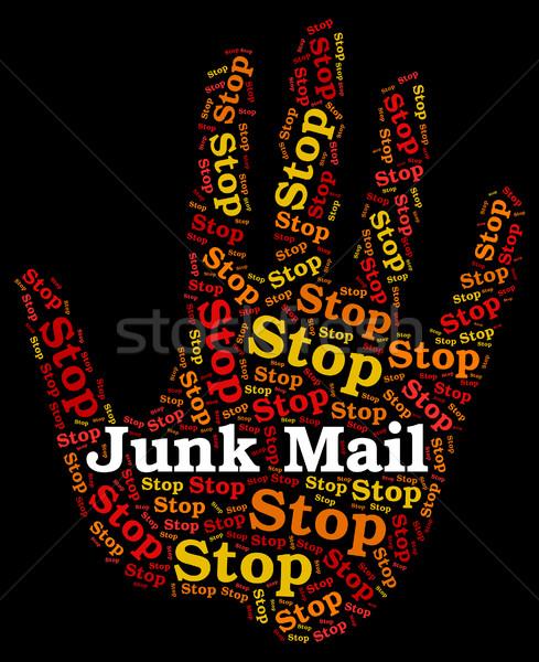 Stop kacat posta figyelmeztető jel veszély e-mail Stock fotó © stuartmiles