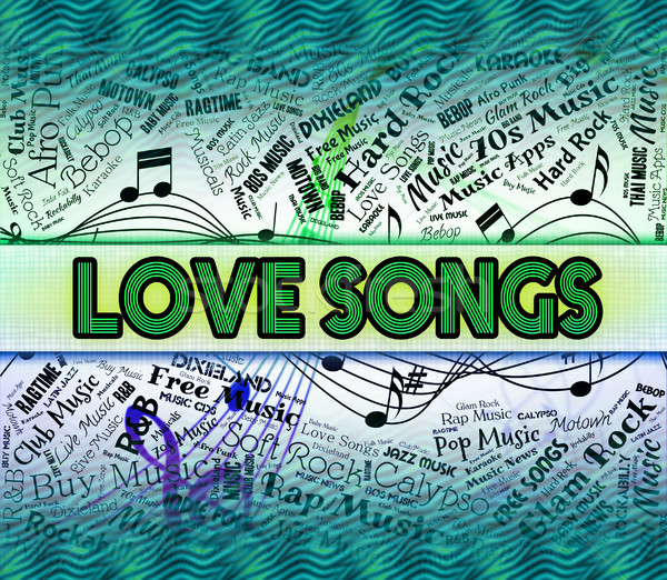 Amor sonido amigo tema corazón romance Foto stock © stuartmiles