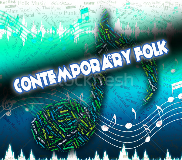 Contemporary Folk Shows Up To Date And Audio Stock photo © stuartmiles