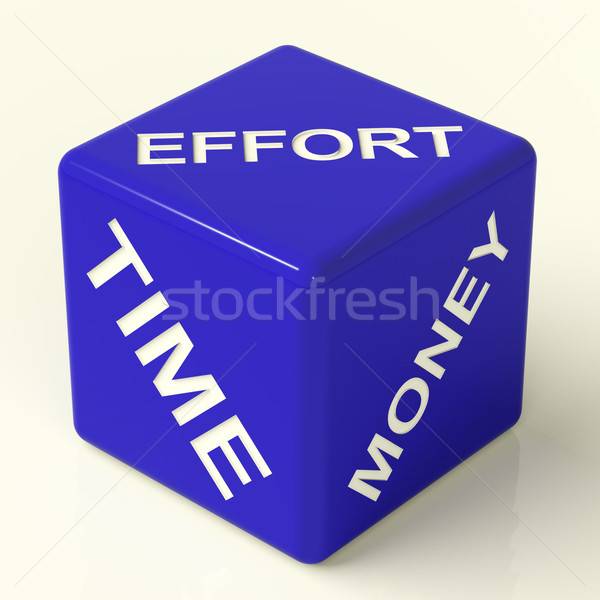 Effort Time Money Dice Representing The Ingredients For Business Stock photo © stuartmiles