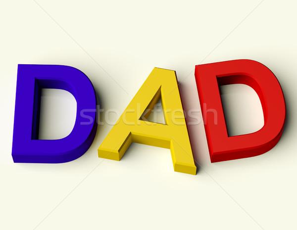 Photo stock: Enfants · lettres · orthographe · papa · symbole · paternité