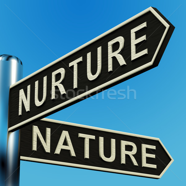 Nurture Or Nature Directions On A Signpost Stock photo © stuartmiles