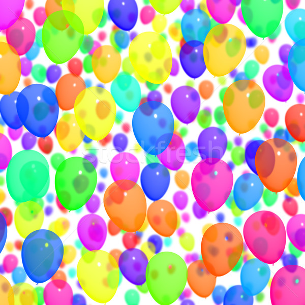 Festive Colorfull Balloons In The Sky For Birthday Celebrations Stock photo © stuartmiles
