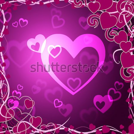 Leylak rengi kalpler sevmek romantizm Stok fotoğraf © stuartmiles
