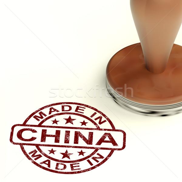 ストックフォト: 中国 · スタンプ · 中国語 · 製品 · 作り出す