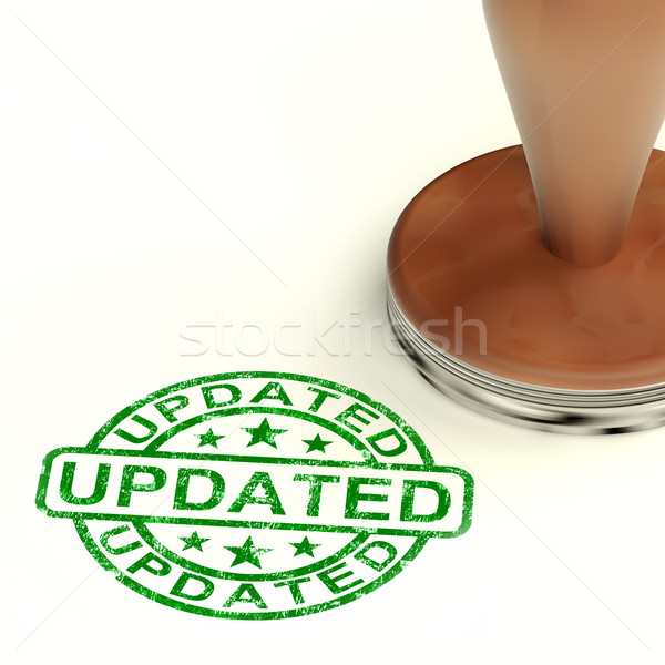 Updated Stamp Showing Improvement Upgrading And Updating  Stock photo © stuartmiles