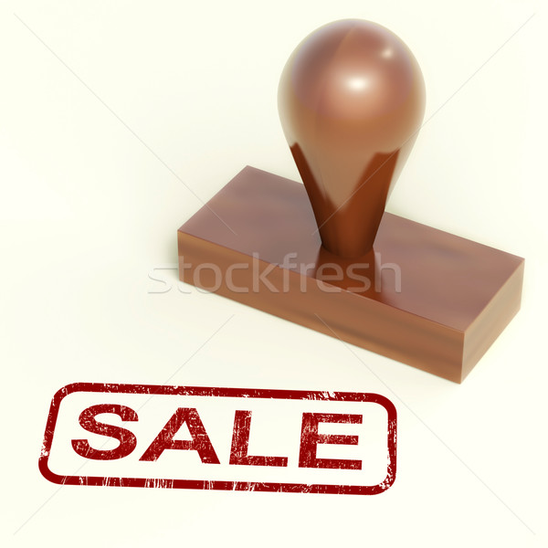 Sale Rubber Stamp Showing Promotion And Reduction Stock photo © stuartmiles